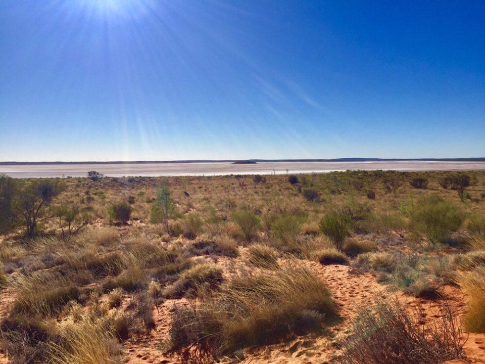 オーストラリア 世界最大の塩湖アマデウス湖 Lake Amadeus