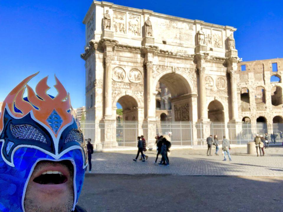 コンスタンティヌスの凱旋門と世界遺産マン