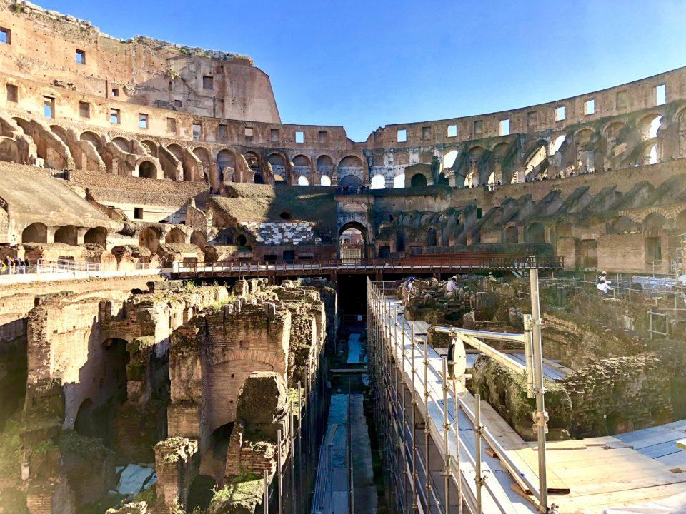 コロッセオの地下遺構