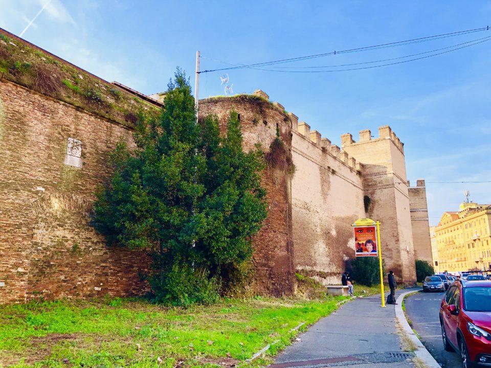 アウレリアヌスの城壁 跡地