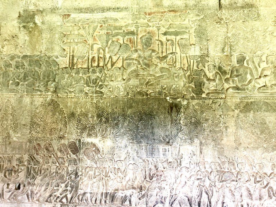 アンコールワット レリーフ スーリヤヴァルマン2世