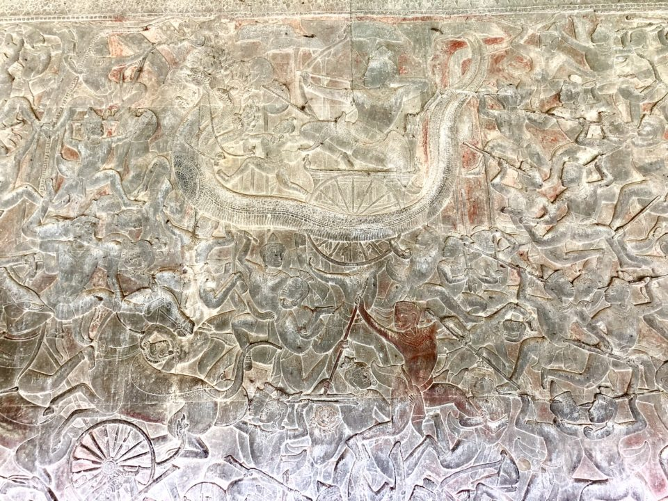 アンコールワット レリーフ 雨の神ワーロナ