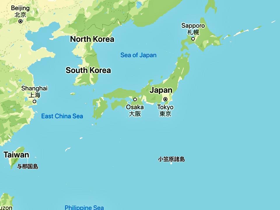 日本列島地図