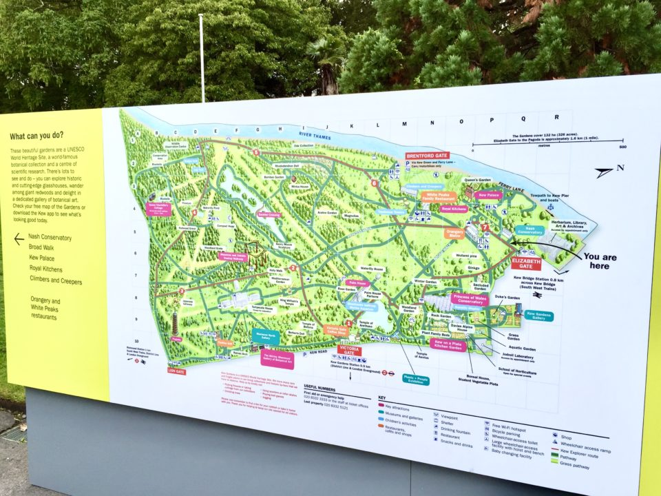 世界遺産 キューガーデンズマップ
