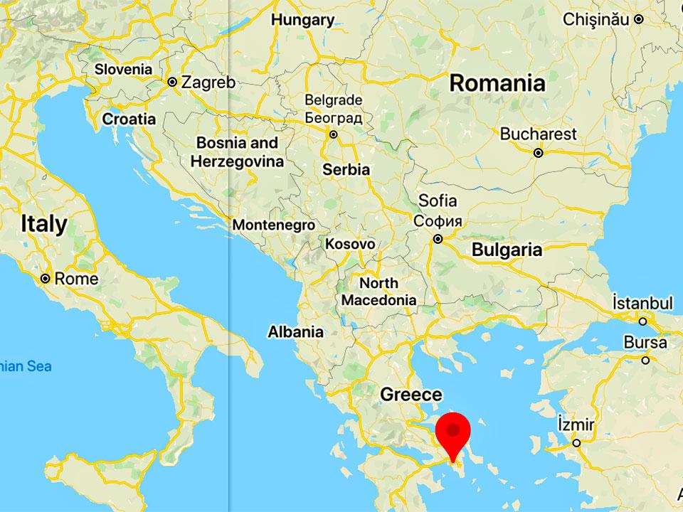 ギリシャ アテネの地図